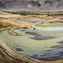 Clay Pit at Bacchus Marsh by Dennis Bryans